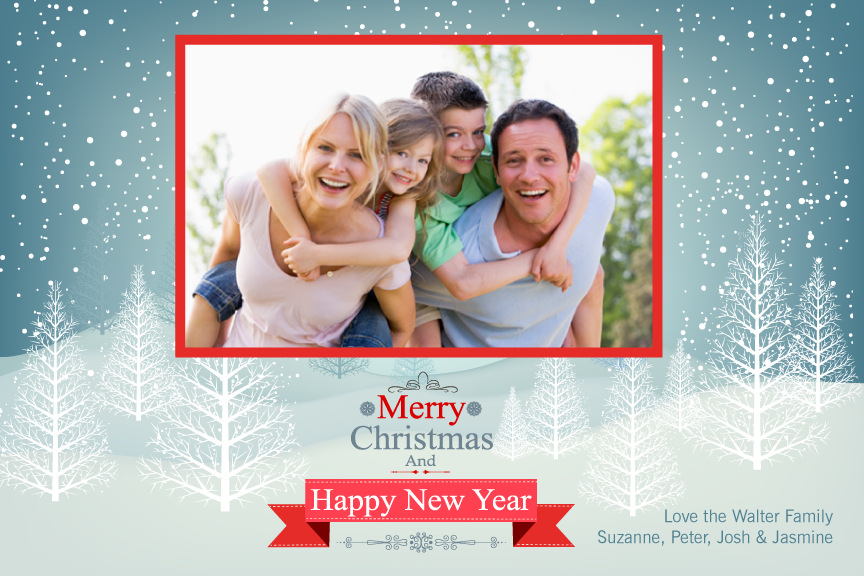 Christmas photo card,  holiday greeting cards photo,  winter holiday Christmas photo greeting card,