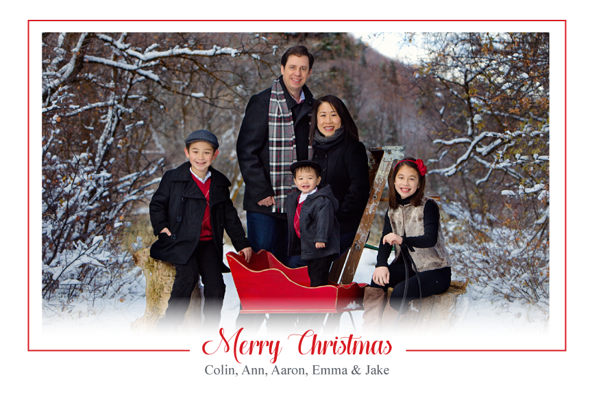 Christmas photo card,  photo Christmas greeting card,