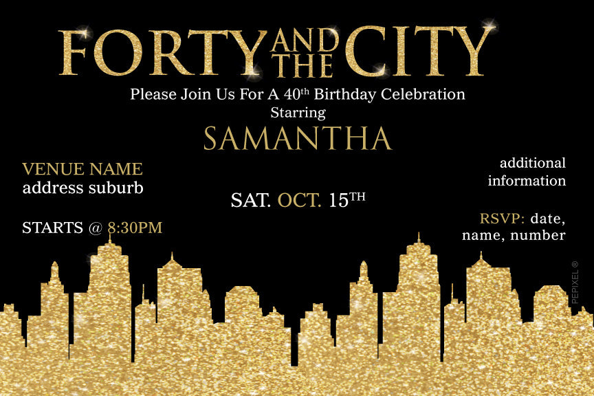 Sex In The City Birthday Invitations And