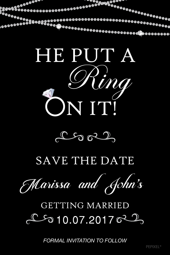Wedding Save The Date Card - Loves Me