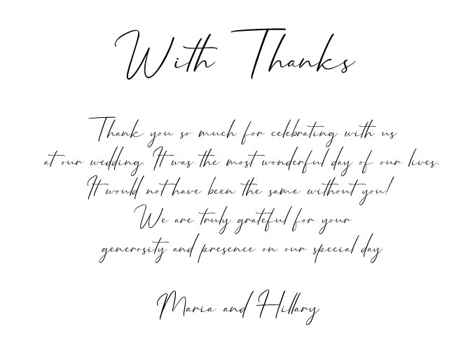 Minimalist calligraphy, handwriting wedding invitation thank you cards