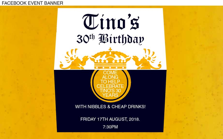 Coronas beer label birthday invitations,