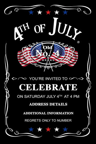 Digital Printable, 4th of july birthday invitations, 4th of july invitation, 4th of july invitation templates, 4th of july invites, 4th of july party invitation template, 4th of july wedding invitations, fourth of july birthday invitations, fourth of july party invitations, fourth of july, fourth of july wedding invitations, july 4th invitations, patriotic invitations, 4 july, party, forth of july, independence day usa printable cards, patriotic, birthday Invitations, Printable Invitation, Jack Daniels Invi