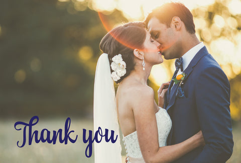 Wedding Thank you cards, Thank you Post card - Thanks