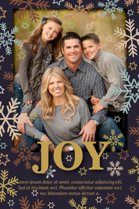 Christmas photo card,  holiday greeting cards photo,  gold and snow flakes with photo holiday Christmas greeting card,