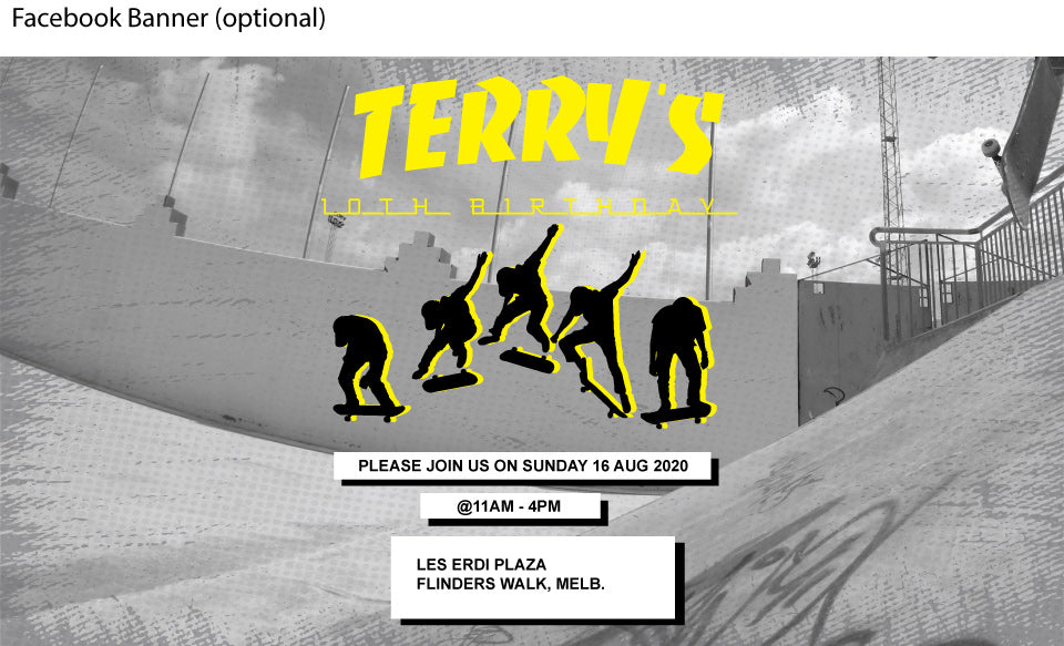 Thrasher magazine,Skateboard birthday invitation, skateboard birthday party invitation, facebook event banner