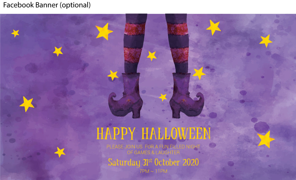 Witches in britches Halloween Party Invitation facebook event banner
