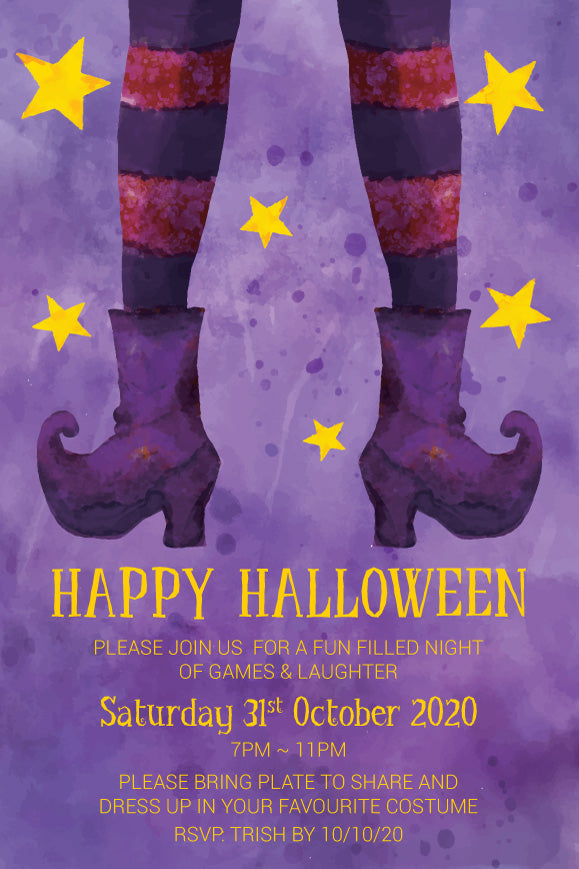 Witches in britches Halloween Party Invitation
