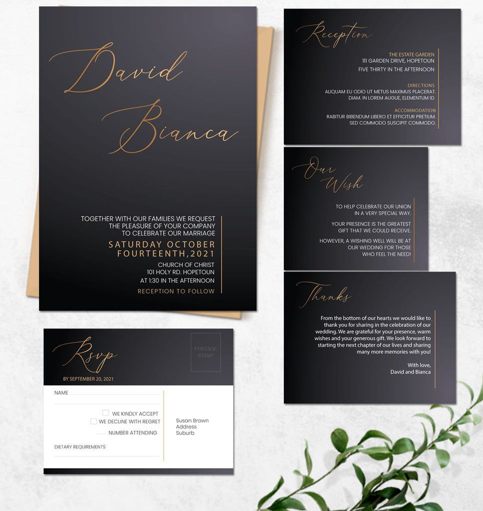 Sophisticated & Modern online Wedding Invitation