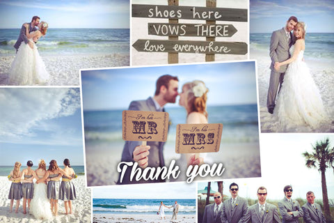 Wedding Thank you cards, Thank you Post card - Joy and Thanks