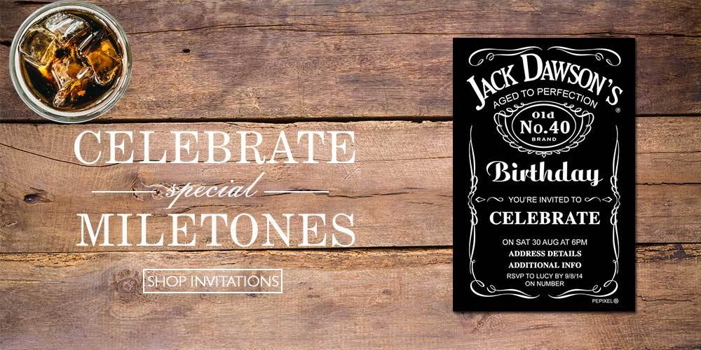 50th birthday invitations australia