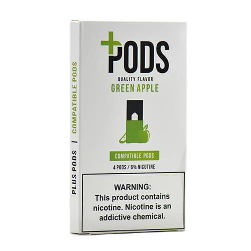 Plus Pods - Juul Compatible Flavor Pods - Green Apple