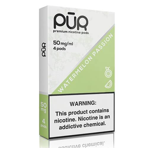PuR - Premium Juul Compatible Nicotine Pods - Watermelon Passion (4 Pack)