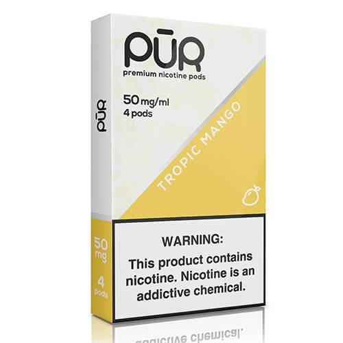 PuR - Premium Juul Compatible Nicotine Pods - Tropic Mango (4 Pack) (NZ-STOCK)