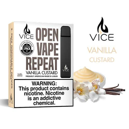 Vice - Portable/Disposable Device - Vanilla Custard (3 Pack)