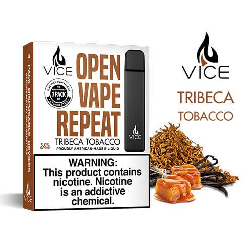 Vice - Portable/Disposable Device - Tribeca Tobacco (3 Pack)