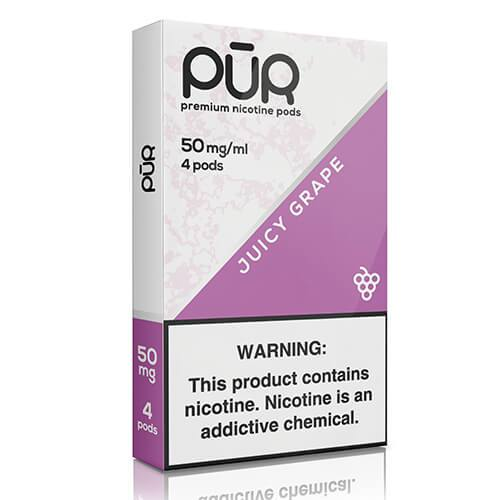 PuR - Compatible Nicotine Pods - Juicy Grape (4 Pack)(NZ-STOCK)