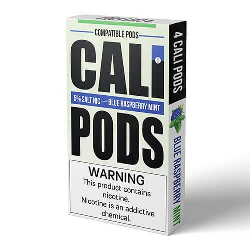 Cali Pods - Compatible Flavor Pods - Blue Raspberry Mint (4 Pack)