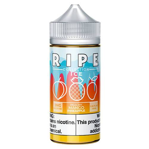 Ripe Collection on Ice by Vape 100 eJuice - Peachy Mango Pineapple On Ice