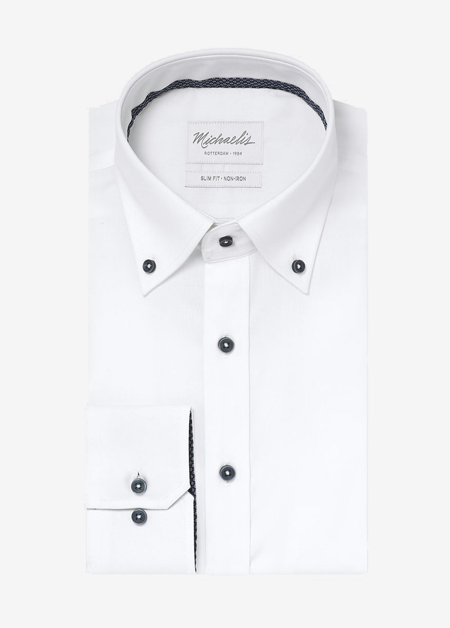 Witte button down overhemd van Michaelis