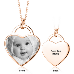 Engraved Photo Necklace