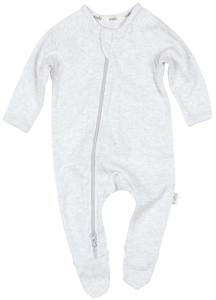 Toshi Organic Long Sleeve Onesie - Dreamtime / Dove