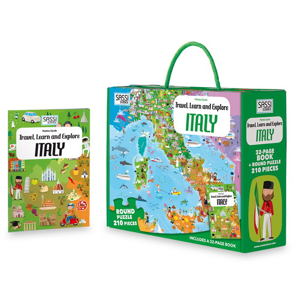 Travel Learn and Explore - Italy 200+ Piece Puzzle & Book