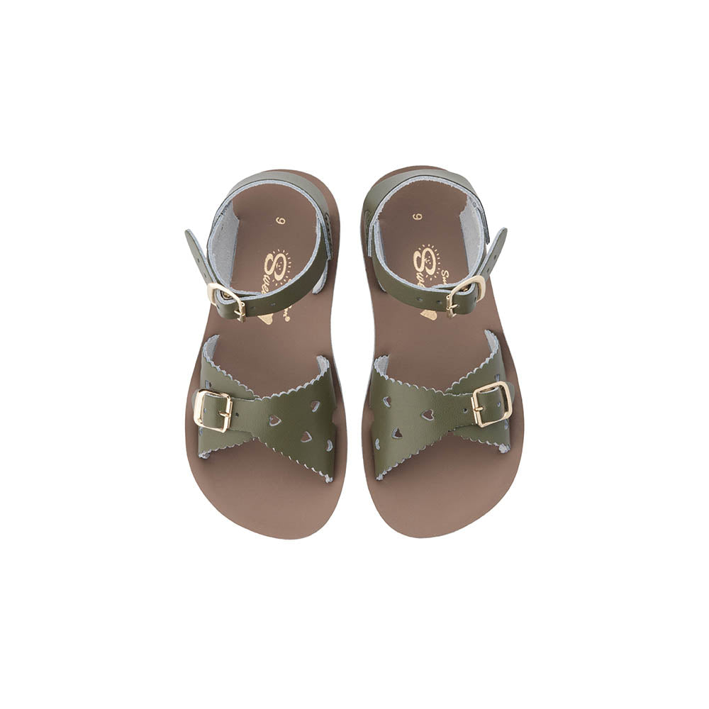 Saltwater Sandals Sun San Sweetheart - Olive