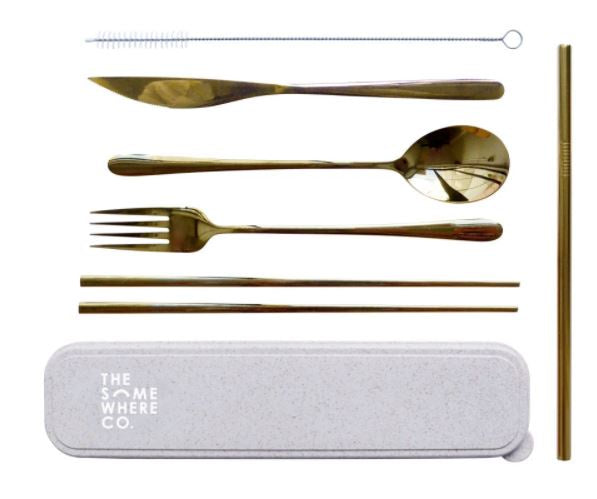 Take Me Away Cutlery Set - Gold