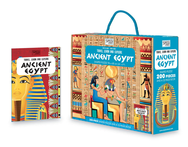 Travel Learn and Explore - Ancient Egypt 200+ Piece Puzzle & Book