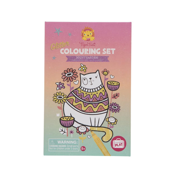 Glitter Colouring Set- Night Garden