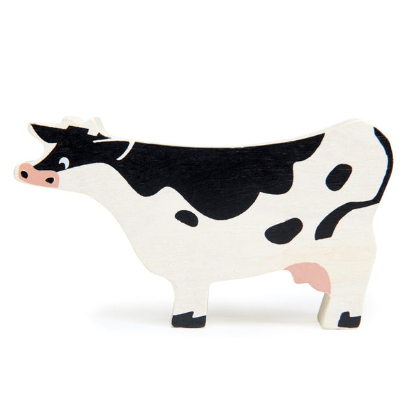 Wooden Farmyard Animal - Cow