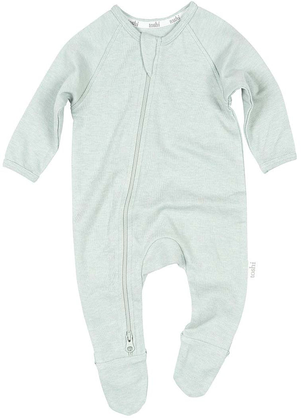 Toshi Organic Long Sleeve Onesie - Dreamtime / Sage