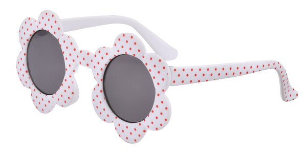 Baby Sunnies Daisy - White/Red Spot (0-18 months)