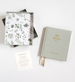 Emma Kate Co. Boxed Linen Cover Luxe Baby Journal - Sage Green