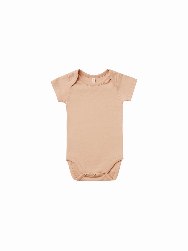 Quincy Mae Short Sleeve Bodysuit - Petal