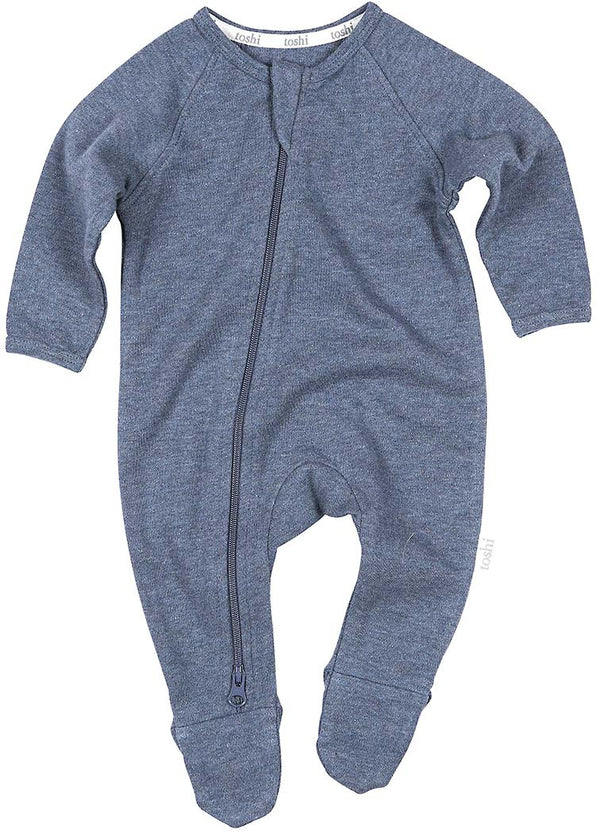 Toshi Organic Long Sleeve Onesie - Dreamtime / Moonlight