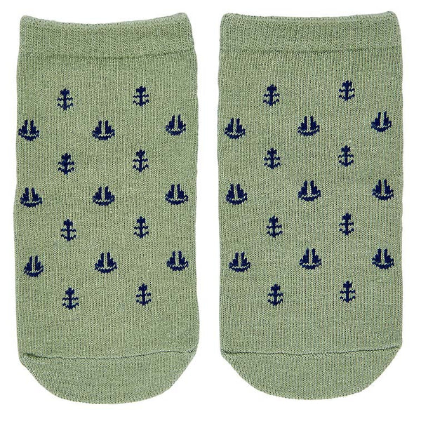 Toshi Organic Baby Socks - Jaquard / Nautical