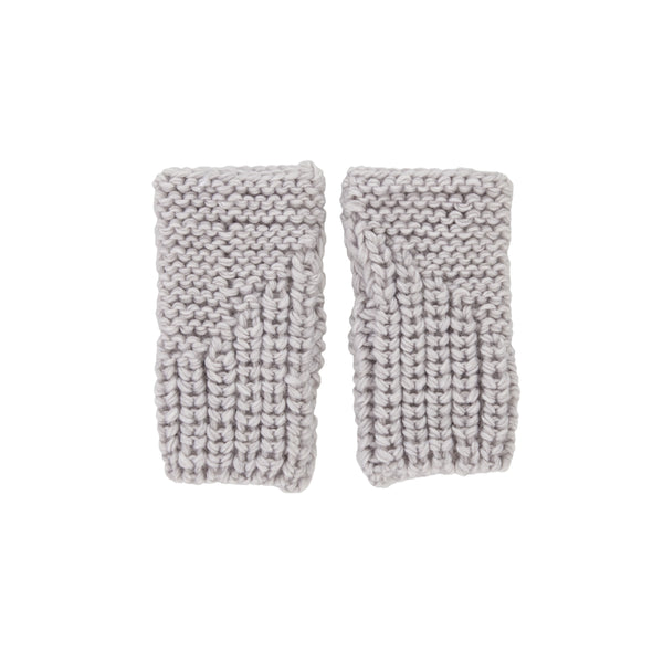 Traveller Fingerless Mittens - Grey