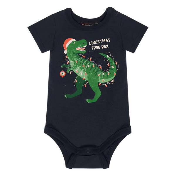 Rock Your Baby Christmas Tree Rex Bodysuit - Baby