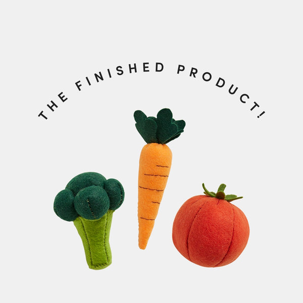 Olli Ella Make Your Own - Felt Vegetable Kit