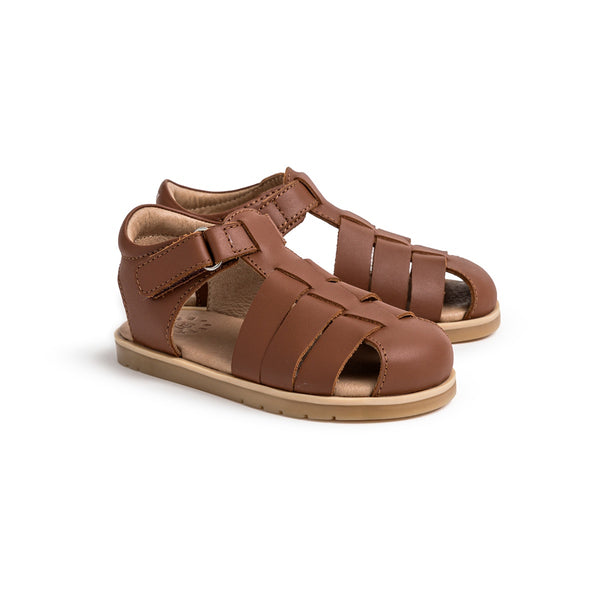 Pretty Brave Rocco Child Sandal - Dark Tan