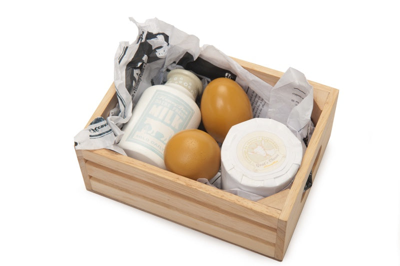 Market Crate - Eggs & Dairy
