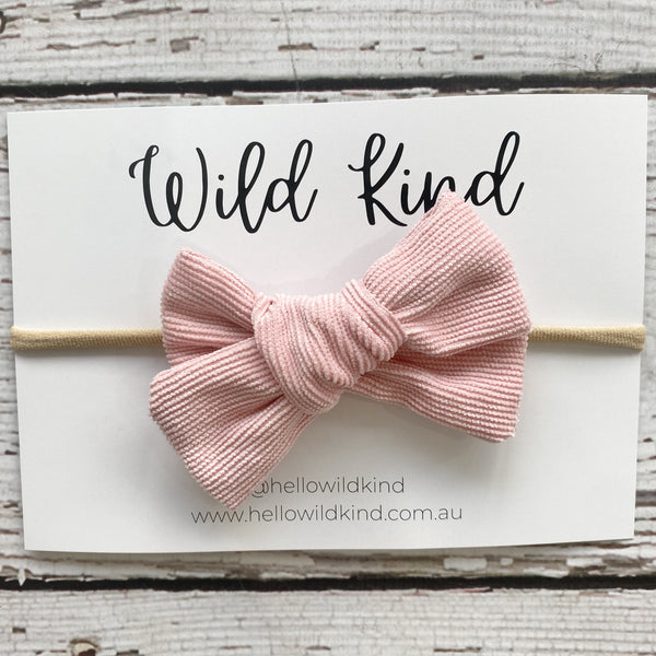 Wild Kind Florence Cord Bow Headband - Pink