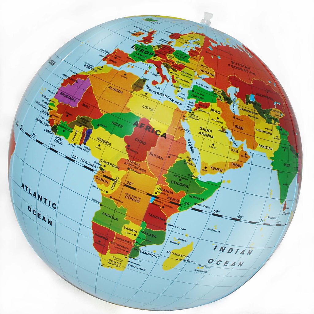 Inflatable World Globe - 50cm