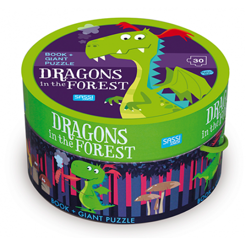 30 Piece Giant Puzzle & Book - Dragon in the Forest