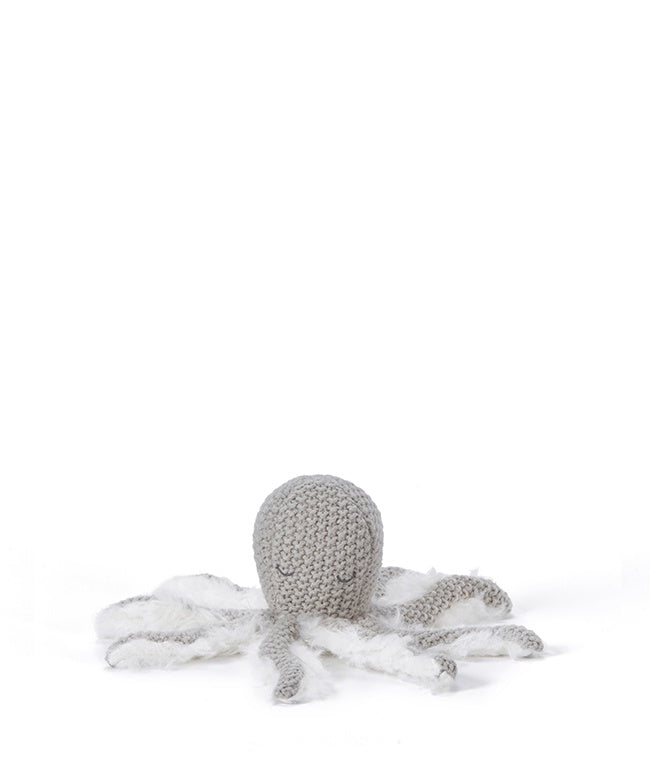 Ollie Octopus Rattle - Grey