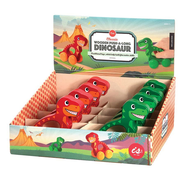 Wooden Push-A-Long - Dinosaur