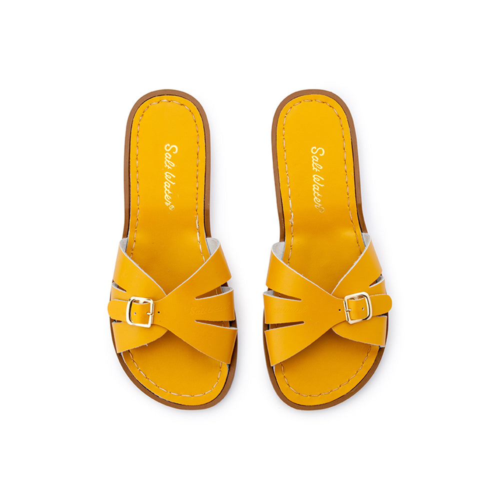 Saltwater Sandals Mama Sizes Classic Slides - Mustard