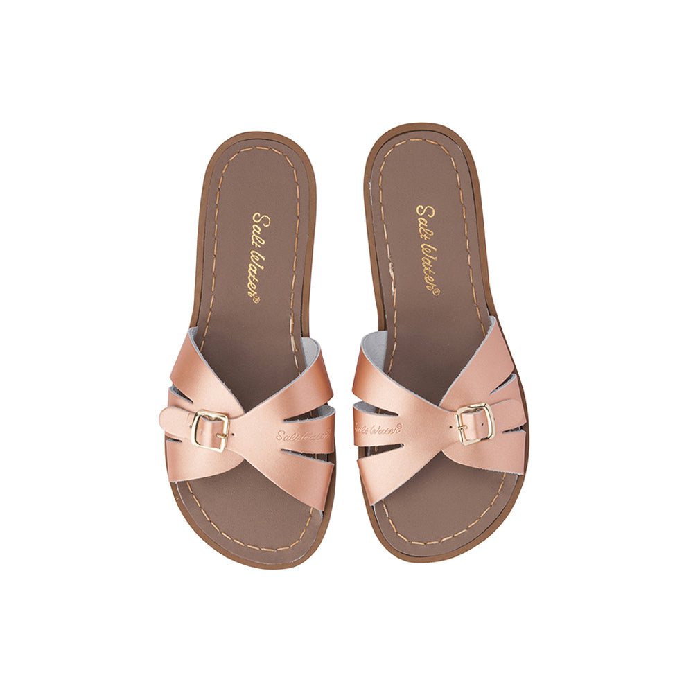 Saltwater Sandals Mama Sizes Classic Slides - Rose Gold